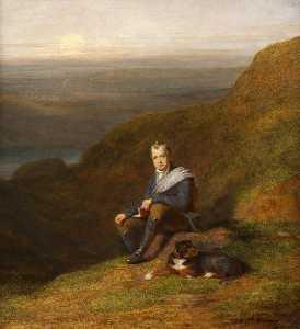 Sir Walter Scott With A Dog