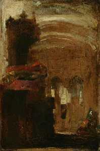 Sketch Of A Church Interior