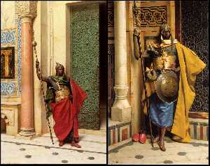 A Nubian Guard And The Palace Guard