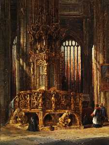 Interior Of St Lawrence Church Nuremberg Tabernacle