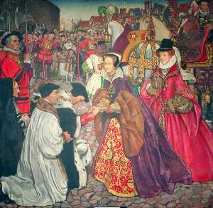 The Entrance Of Mary I With Princess Elizabeth Into London