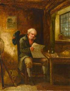 Scotsman In A Cottage Interior