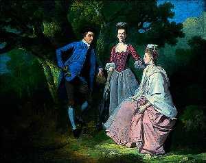 edward et priscilla wakefield avec mme Wakefield's Sœur , Catherine Cloche