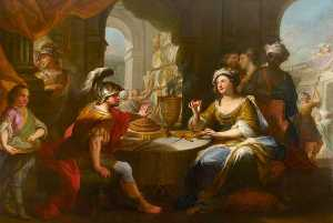 Cleopatra Dissolving The Pearl In Wine