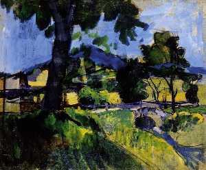 Landscape By A Brook