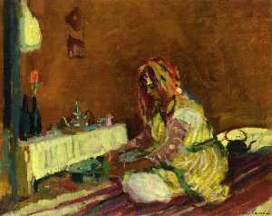 Morrican Girl Serving Tea