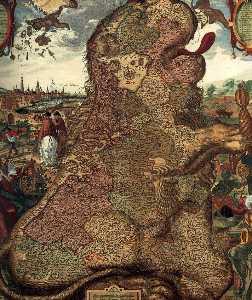 Lion Map (leo Belgicus) (detail)