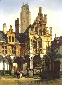 Courtyard Of The Palace Of Marguerite Of Austria In Malines