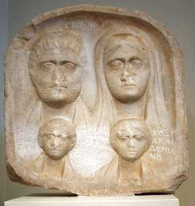 Archaeological Museum, Athens - Grave Stele For A Family - Photo By Giovanni Dall'orto