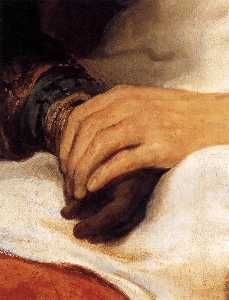 Isaac Blessing Jacob (detail)