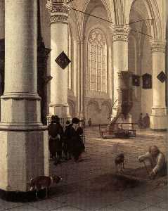 Interior Of The Nieuwe Kerk At Delft