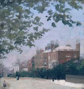 Cheyne Walk -the Corner Of Beaufort Street