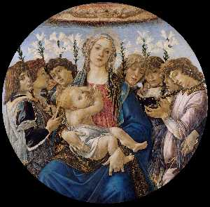 Madonna And Child With Singing Angels