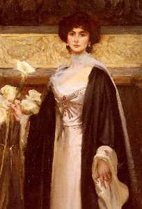 Portrait Of Baroness Alfred De Meyer