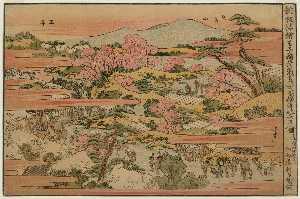 View Of The Inari Shrine At Ôji And Asuka Hill