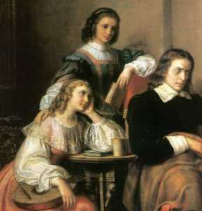 Milton Dictates The Lost Paradise To His Three Daughters