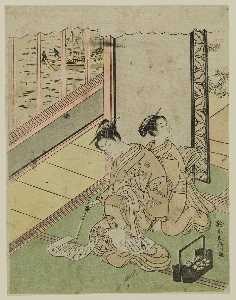 Courtesan Reading A Letter While Being Massaged