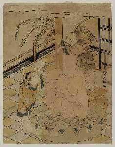 Two Chinese Boys Bathing Hotei