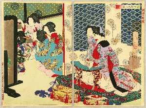 Drinking Party At Kioshida Palace