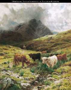 Cattle Watering In The Highlands