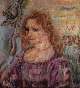 Alma Malher, Huile sur Toile,