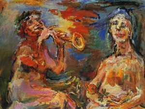 Matin et soir (la puissance de la musique), Morning and evening ( power of the music), Huile sur Toile,