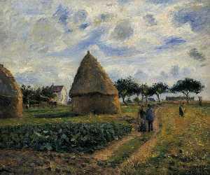 Peasants and Hay Stacks.
