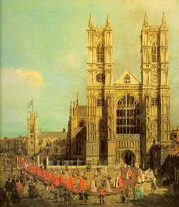 London- Westminster Abbey with a Procession of the