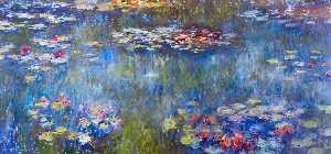 le bassin aux nympheas - reflets verts