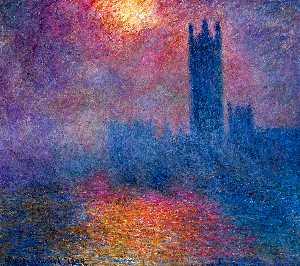 london parliament sun
