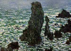 Rocks at Belle-ile Sun