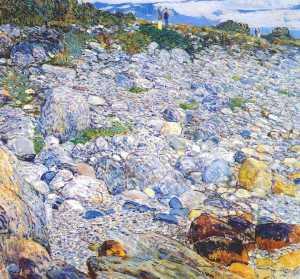 rocky beach, appledore