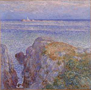 white island light (isles of shoals at sundown) -