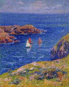 Henry Ouessant calm sea Sun