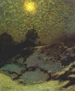 early evening, winter