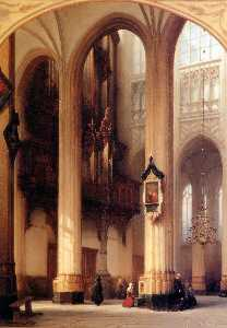 interior of sint jan church in den bosch sun