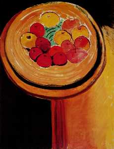 Les pommes Huile sur Toile Chicago, The Art Institute