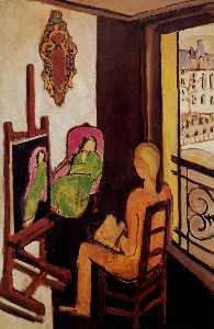 Le Peintre dans son atelier Huile sur Toile pmdam