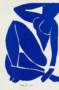 Nu bleu Gouache découpée Paris, Musée national d'Art Moderne