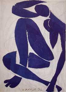 Nu bleu IV Gouache découpée Nice , musée Matisse