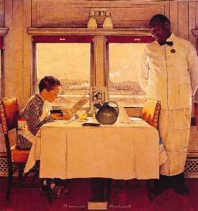 Boy in A dining Car