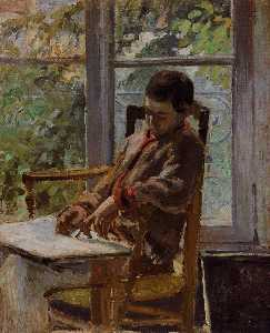 Lucien Pissarro in an Interior.