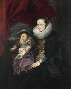 Sir Anthony Van - Portrait of a Woman and Child