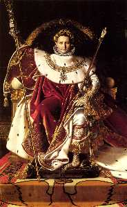 Napoleon I on His Imperial Throne-large