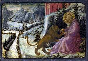 Saint Jerome and the Lion - Predella Panel