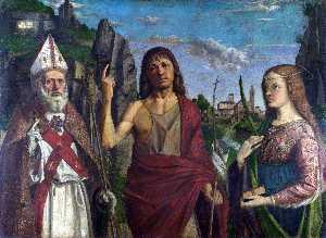 Saint Zeno, Saint John the Baptist and a Female Martyr