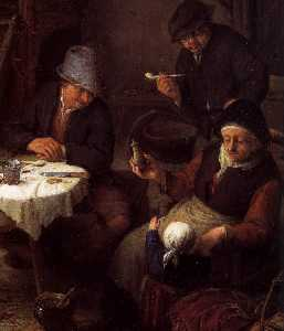 Peasant Family in a Cottage Interior (detail)