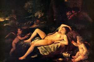 Nicholas Sleeping Venus and Cupid