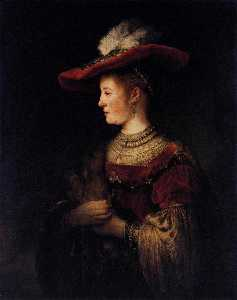 Saskia in Pompous Dress