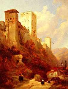 Tower of comares, alhambra, granada